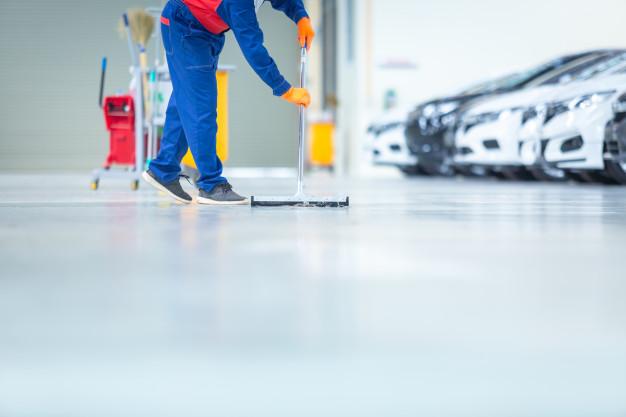Car workshop epoxy flooring